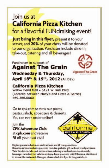 Marvelous By Againstthegrainproductions · Against The Grain Productions · California  Pizza Kitchen ...