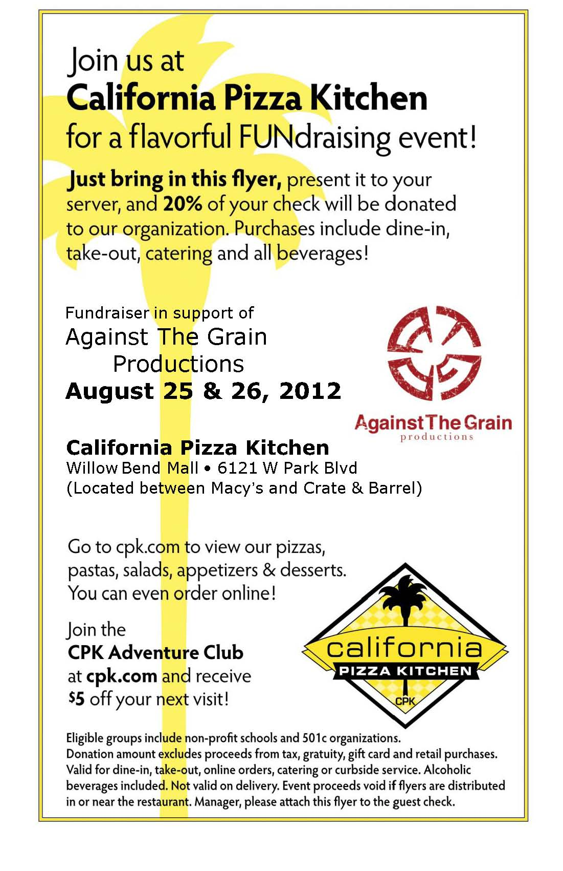 California Pizza Kitchen – Against The Grain Productions