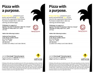 Dine for a Cause: California Pizza Kitchen @ California Pizza Kitchen | Plano | Texas | United States