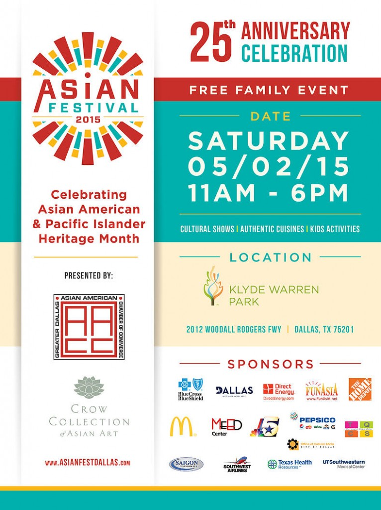 25th Annual Asian Festival @ Klyde Warren Park | Dallas | Texas | United States