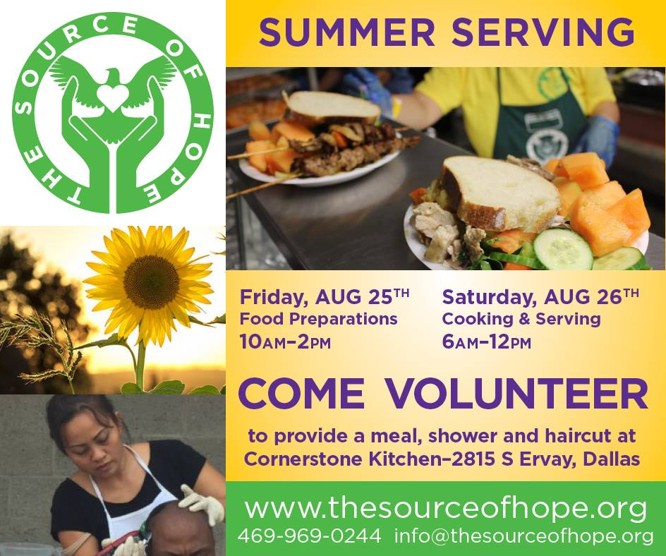The Source of Hope - Food Kitchen Help @ Plano   Texas   United States